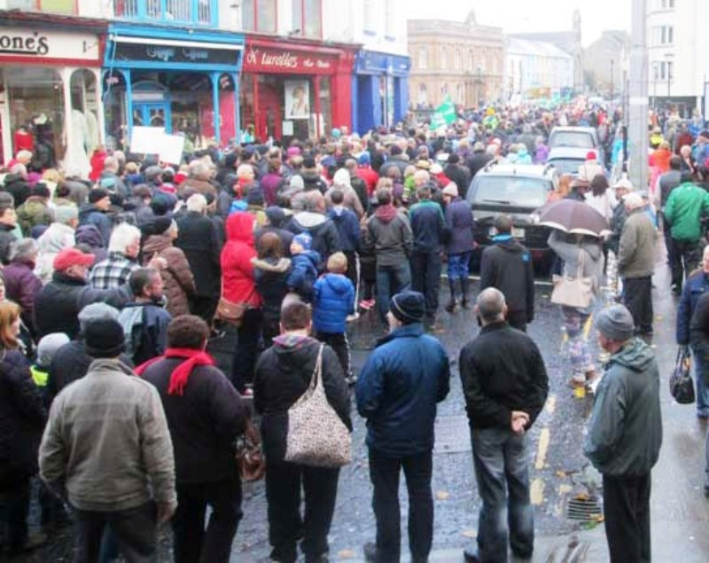 Sligo protest against water charges