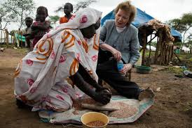 Visiting Somalia...Mary Robinson served as seventh, and first woman, president and United Nations Commissioner for Human Rights